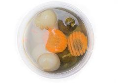 Ассорти из соленого чеснока, моркови и огурцов, 600г