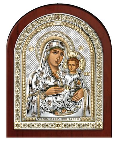 Серебряная икона Божией Матери Иерусалимской (эксклюзивная рамка)