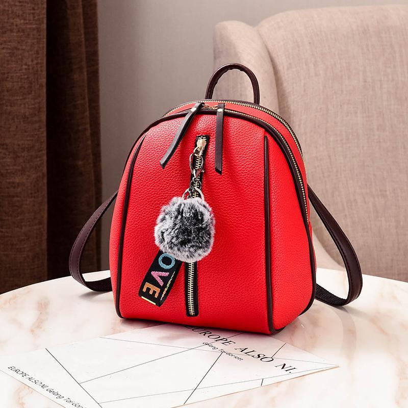 Женский маленький рюкзакок 18х24х12 см красный 4378-2