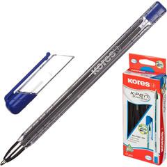 Ручка шариковая KORES К11 неавт M(1мм) треуг.корп., масляная, синяя