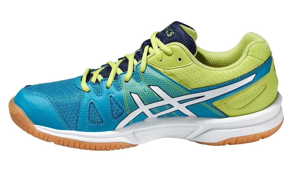 Детские кроссовки для волейбола Asics Gel-Upcourt GS (C413N 4201) голубые