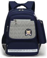 Рюкзак школьный Qix 581 Серый + Пенал