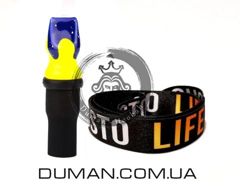 Персональный мундштук Gusto Bowls (Густо Болс)  Blue-Yellow Gusto Life