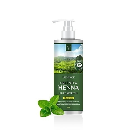 DEOPROCE HAIR GREENTEA Маска для волос с зел. чаем и хной DEOPROCE GREENTEA HENNA PURE REFRESH HAIR PACK 1000 мл