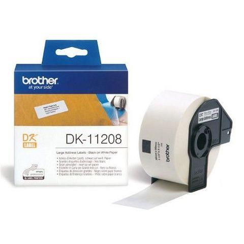 Большие адресные наклейки Brother DK-11208 (38 x 90 мм) 400 шт