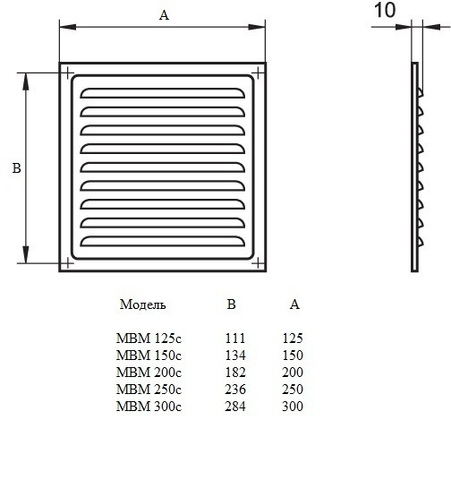 Решетка МВМ 250с белый
