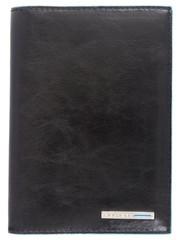 Обложка для документов Piquadro Blue Square, черная, 10х14х1,5 см