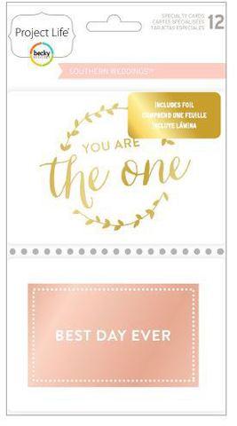 "Набор карточек ""Southern weddings"" для Project life 12 шт"