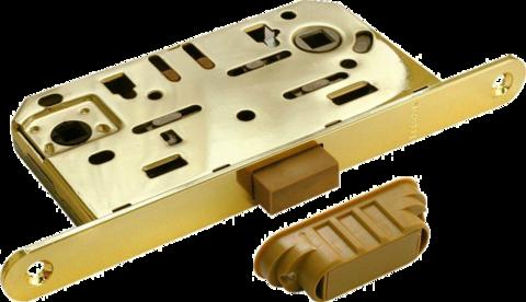 Фурнитура - Замок Сантехнический магнитный Morelli М1895 PG, цвет золото сталь + многослойное гальваническое покрытие