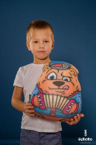 Подушка-игрушка антистресс «Медведь-гармонист» 2