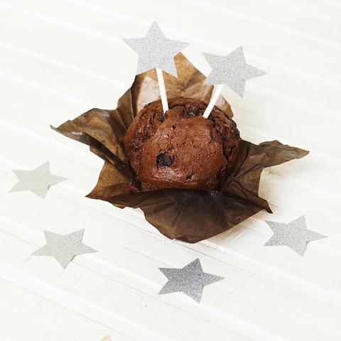 Украшение для пирожных Silver Stars