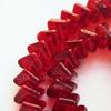 """Бусина стеклянная """"Сердечки"""" цвет - красный, 10х7 мм, нить"""