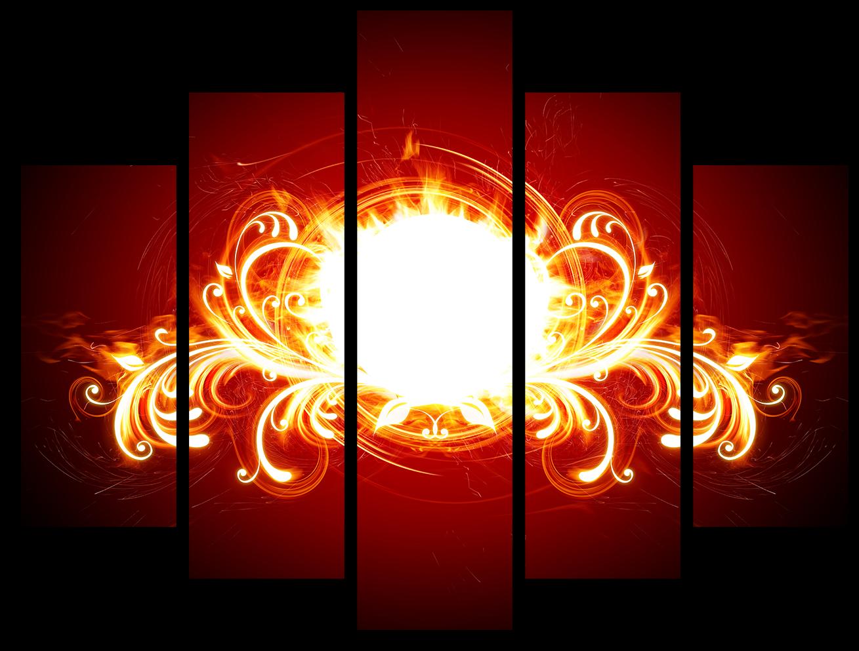 """Модульные картины Модульная картина """"Огненный узор"""" М970.png"""