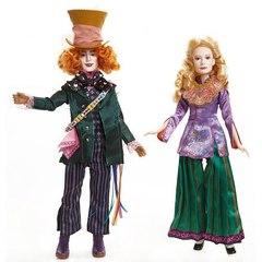 Набор кукол Безумный Шляпник и Алиса - Алиса в Зазеркалье, Jakks Pacific