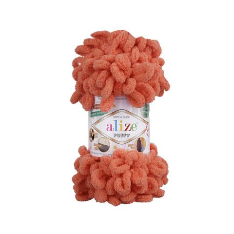 Купить Пряжа Alize Puffy Код цвета 619 Коралловый | Интернет-магазин пряжи «Пряха»