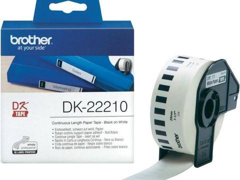 Бумажная клеящаяся лента Brother DK-22210 (белая, ширина 29 мм) длина рулона 30,5 м