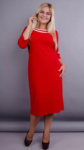 Вівіан. Оригінальна сукня великих розмірів. Червоний.