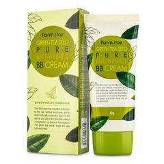 Farmstay Green Tea Seed Pure Anti Wrinkle - Разглаживающий ББ крем с семенами зеленого чая