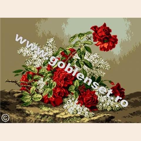 G-936 Веточки сирени и розы
