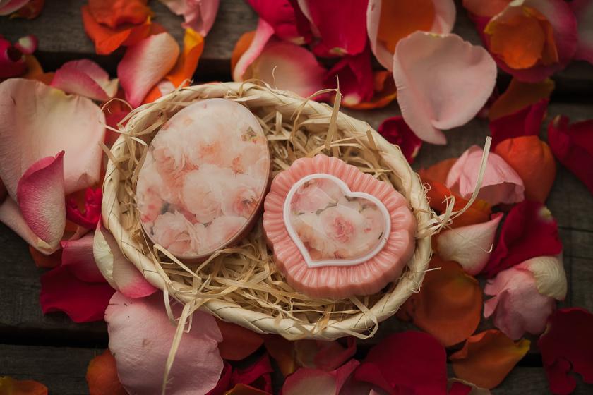 Мыло Сердце с рюшами. Форма пластиковая