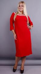 Вивиан. Оригинальное платье больших размеров. Красный