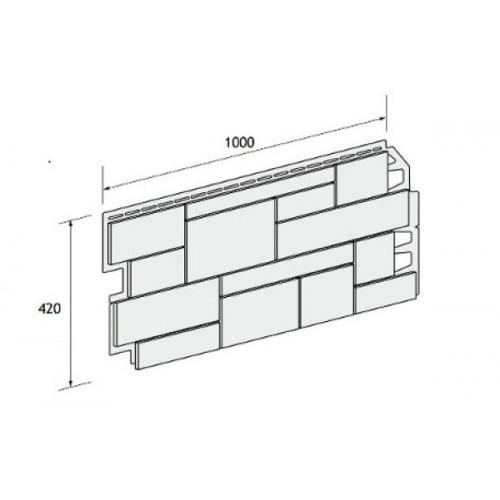 Фасадные панели (Цокольный Сайдинг) VOX Sandstone (Сандстоун) Light Brown (Светло-коричневый)