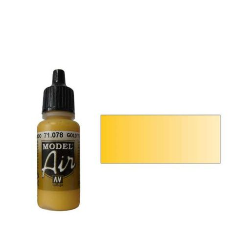 078 Краска Model Air Желтый  (Yellow RLM04) укрывистый, 17мл