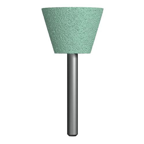 Шарошка абразивная ПРАКТИКА карбид кремния, трапециевидная 35х25 мм, хвост 6 мм, блистер