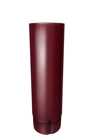 Труба круглая соед ф90-1м (RAL 3005-винно-красный)