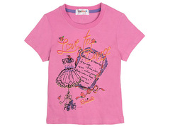 702-7 футболка детская, розовая