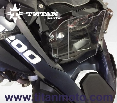 TITAN Защита фары большая GS LC 17+, Прозрачная