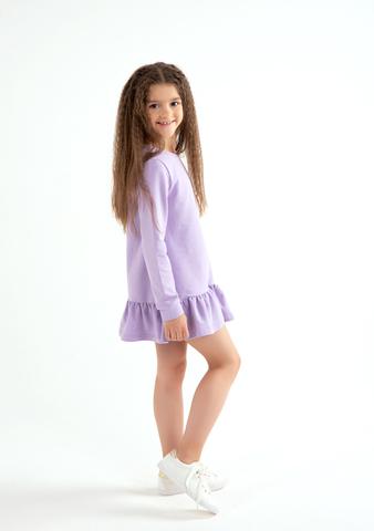Платье с воланом Anlikids цвет лаванда