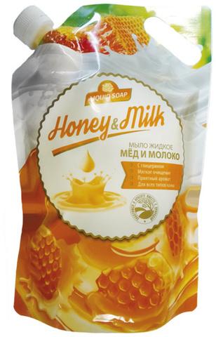 Romax Лесные ягоды Мыло жидкое Мёд и молоко 1000мл (Дой-пак)
