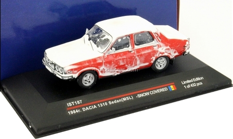 Dacia 1310 Sedan MSL snow covered red 1984 IST187 IST Models 1:43