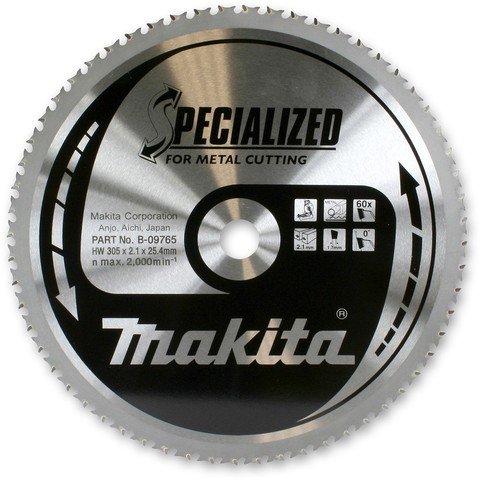 Диск Makita по стали 185*30*1,85 мм/48T, 0°, SMTCG
