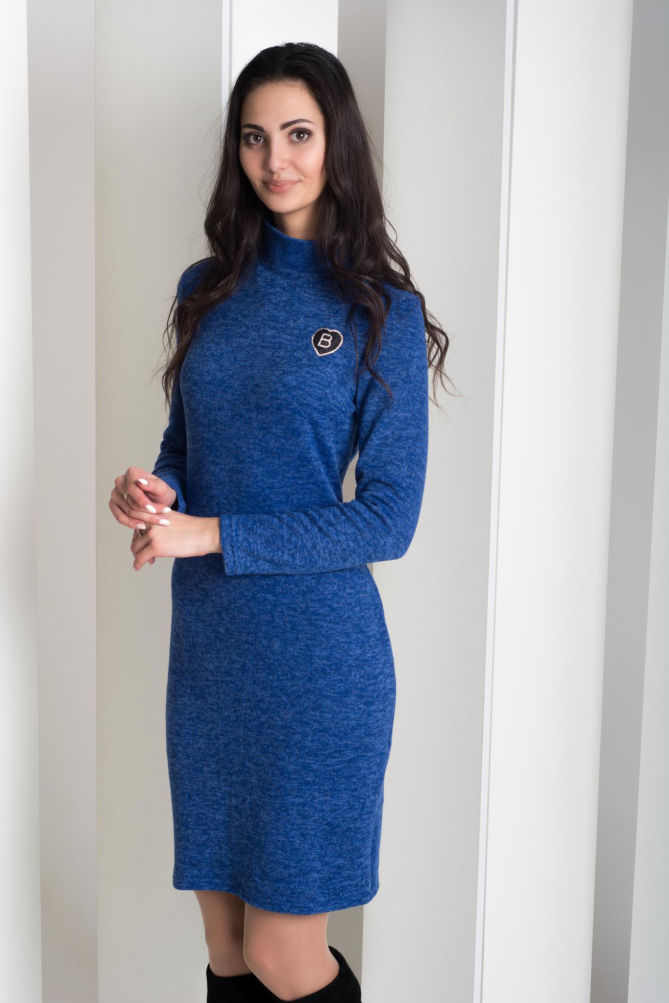 6355bbfaa5de2e9 Лана. Повседневное тёплое платье гольф. Электрик – купить в интернет ...