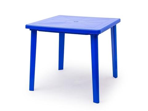 Стол квадратный. Цвет: Синий