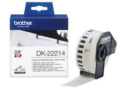 Бумажная клеящаяся лента Brother DK-22214 (белая, ширина 12 мм) длина рулона 30,48 м