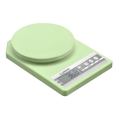 Весы кухонные сенсор LUMME LU-1343 зеленый нефрит