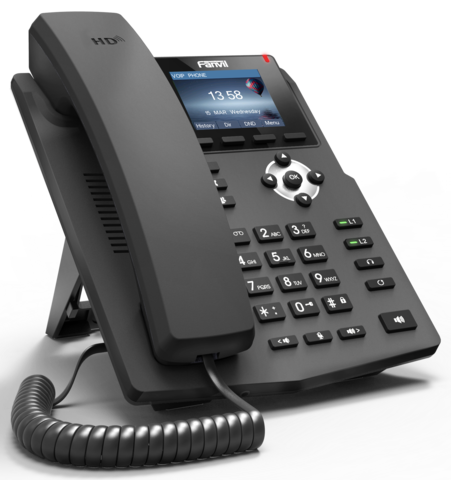 Fanvil X3SP - Business SIP Phone (POE) - IP телефон, 2 SIP линии, цветной LCD