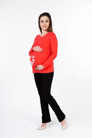 Лонгслив для беременных 10049 коралловый