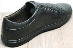 Кеды кроссовки мужские кожаные черные весна осень Novelty 5235 Black.