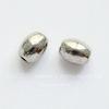 """Бусина металлическая овальная """"Зернышко"""" 5х4 мм (цвет - античное серебро), 10 штук"""
