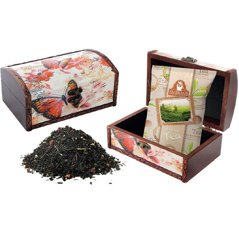 Подарочный набор. Деревянная шкатулка (чай