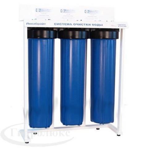 АБФ-320ББ-Умягчение, Трехступенчатая система МАГИСТРАЛЬНЫХ ФИЛЬТРОВ 20ББ для очистки Жесткой воды