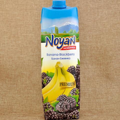 Нектар Noyan  бананово-ежевичный, 1л