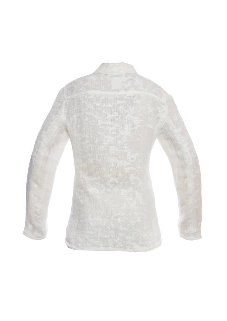 Легкий удлиненный жакет из шерсти кремового цвета от Chanel, 38 размер.