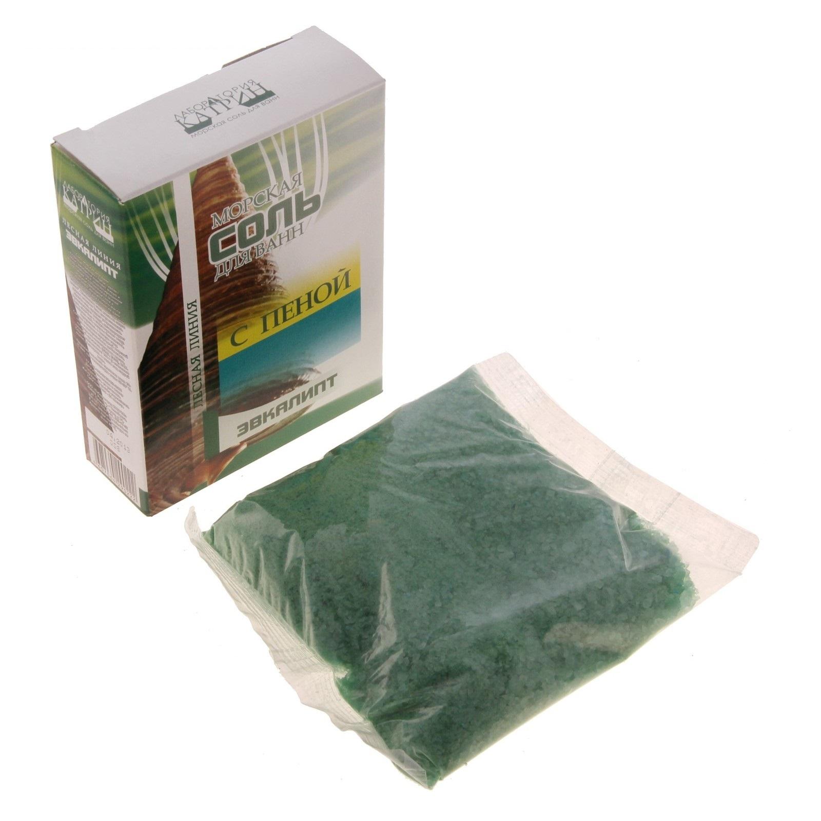 Морская соль для ванн с пеной Эвкалипт 500 г.