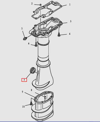 Заглушка дейдвуда для лодочного мотора T9.8 Sea-PRO (12-7)