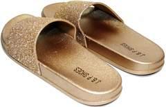 Шлепки на лето женские J.B.P. Shoes NU25 Gold.